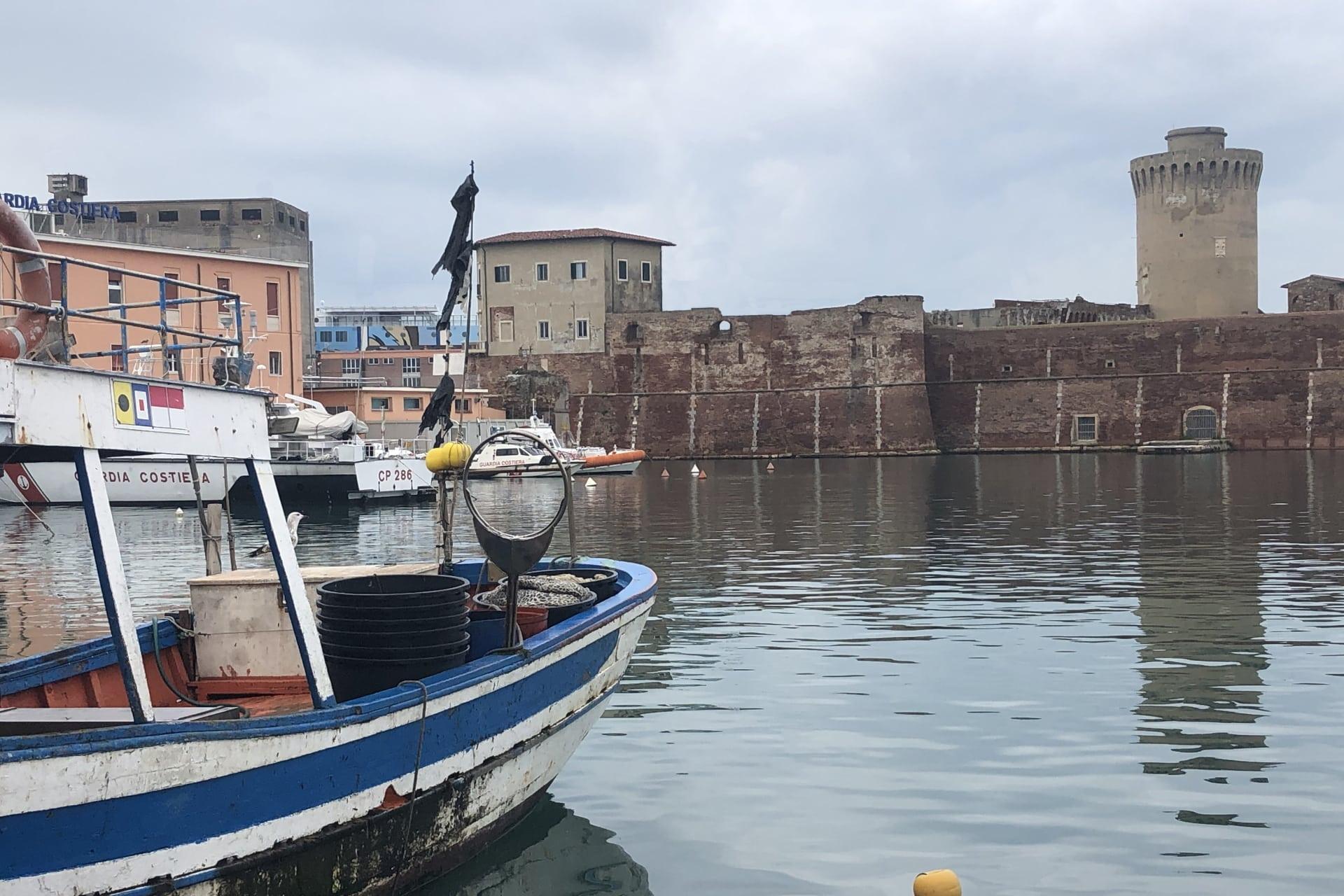 Livorno: il porto e la Fortezza Vecchia