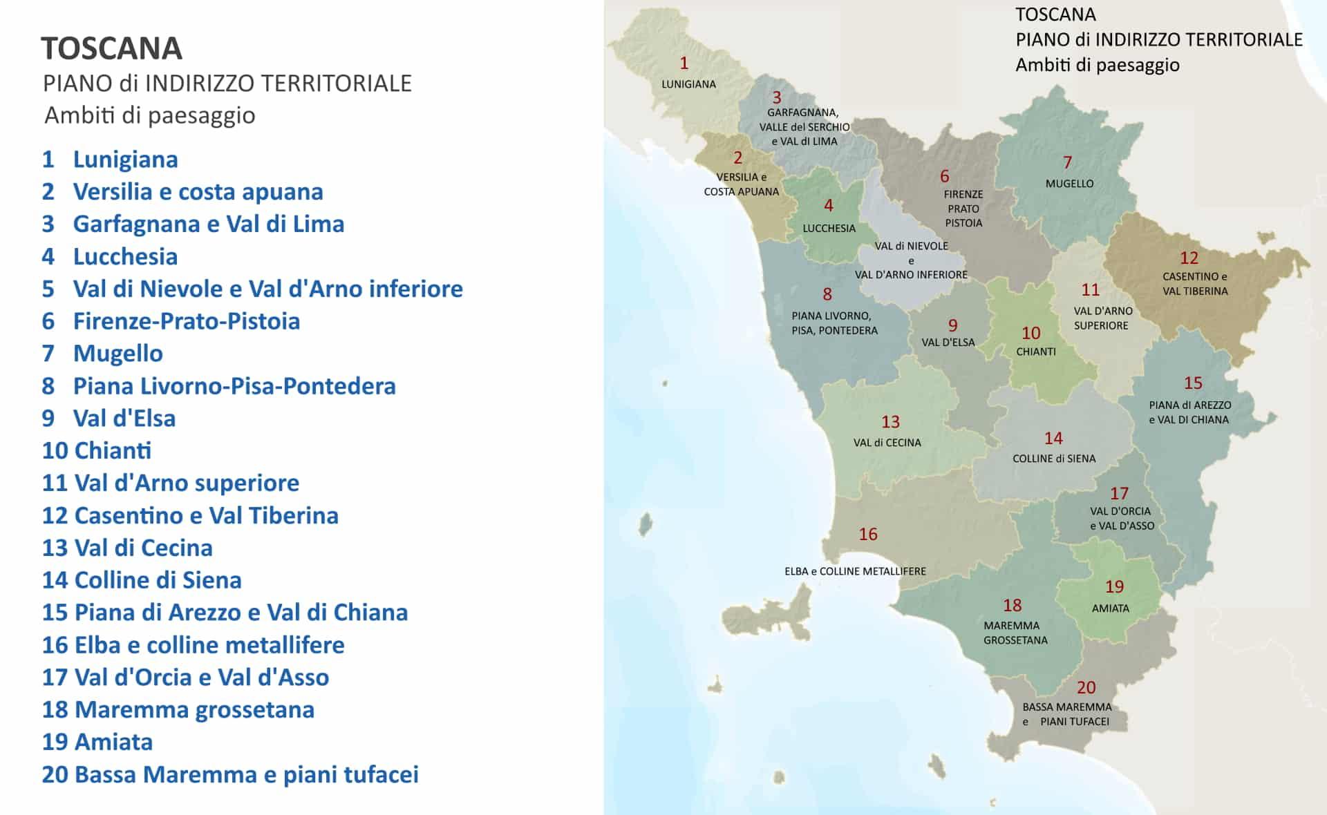 Toscana: ambiti di paesaggio