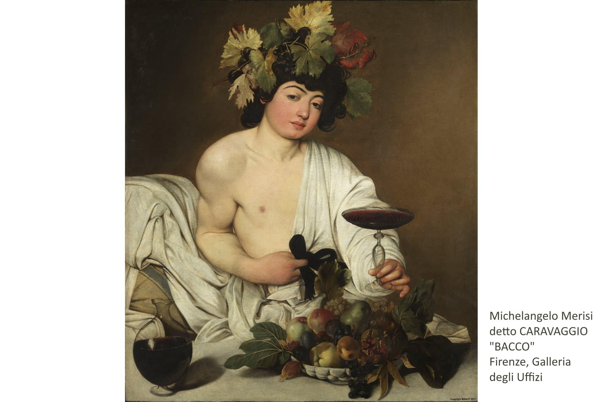 Michelangelo Merisi detto Caravaggio - Bacco - Firenze, Galleria degli Uffizi