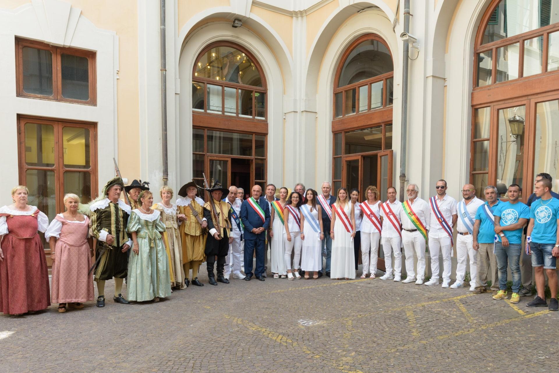 Il corteo storico ricevuto in Consiglio Regionale