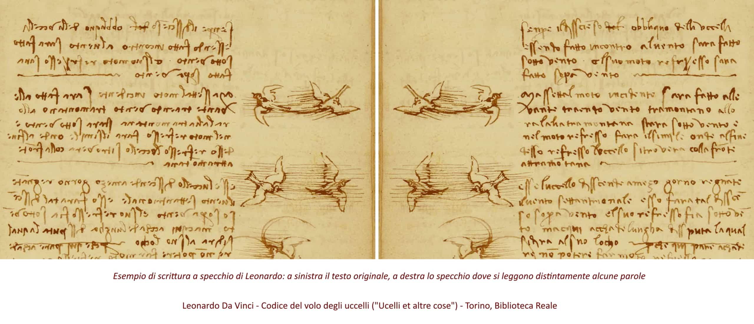 Leonardo Da Vinci: scrittura a specchio nel Codice del volo