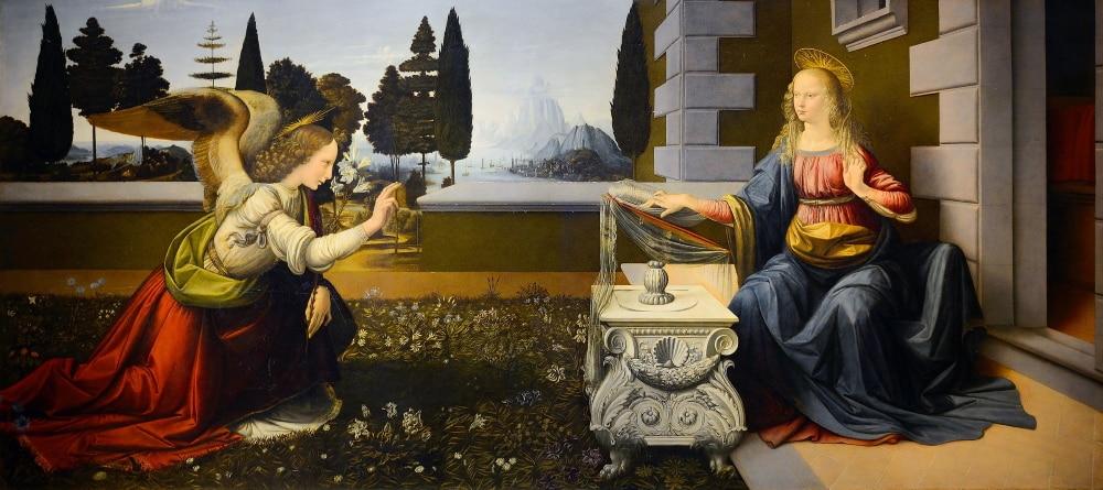 Leonardo da Vinci - L'Annunciazione - Firenze, Galleria degli Uffizi