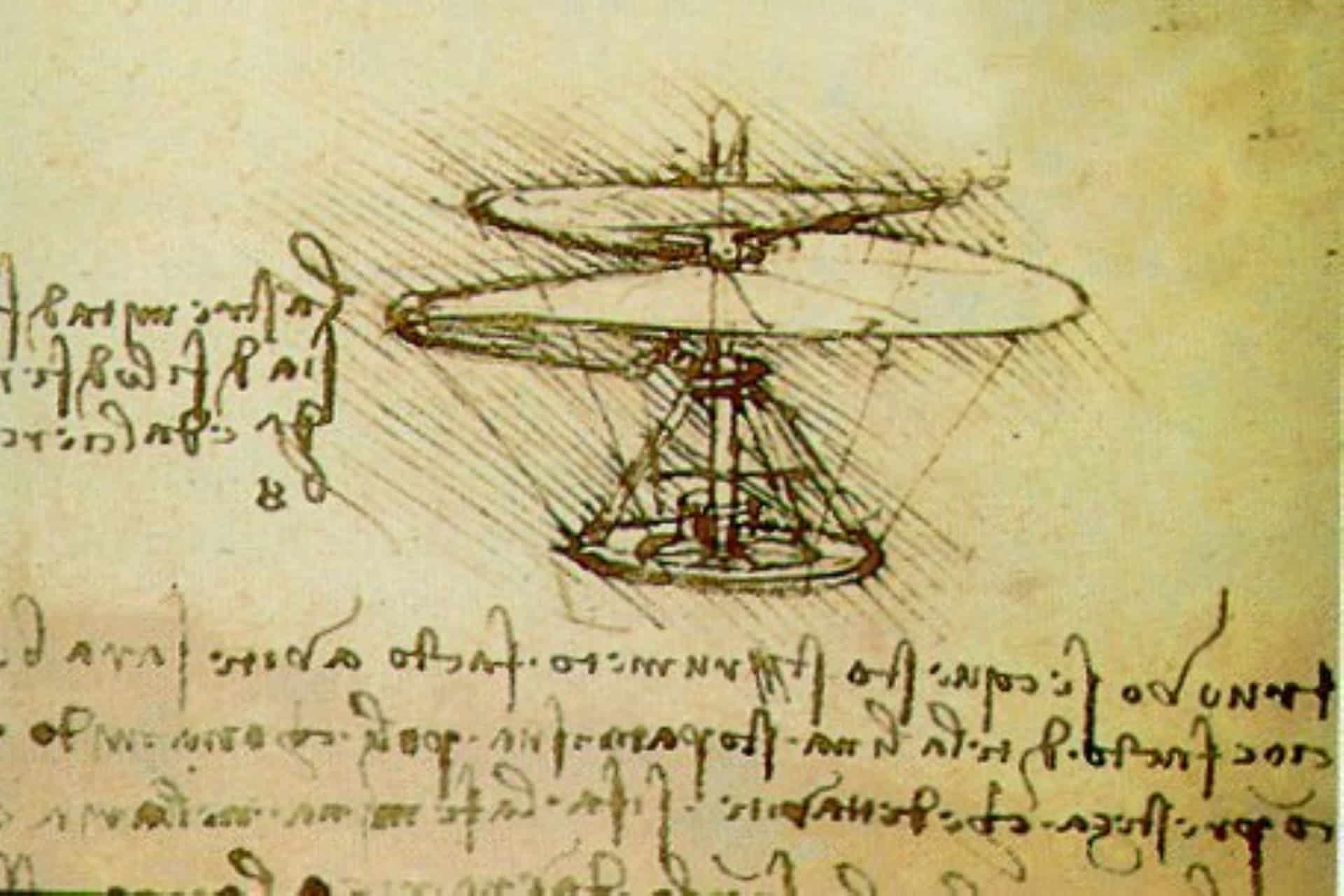 Leonardo da Vinci: Codice Atlantico - Milano Biblioteca Ambrosiana. Progetto di una macchina volante