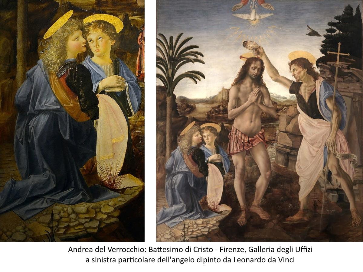Verrocchio: Battesimo di Cristo - Firenze, Galleria degli Uffizi
