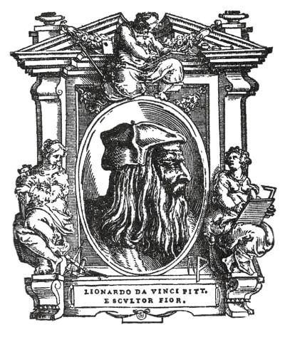 Giorgio Vasari: Le vite - Frontespizio del capitolo dedicato a Leonardo Da Vinci