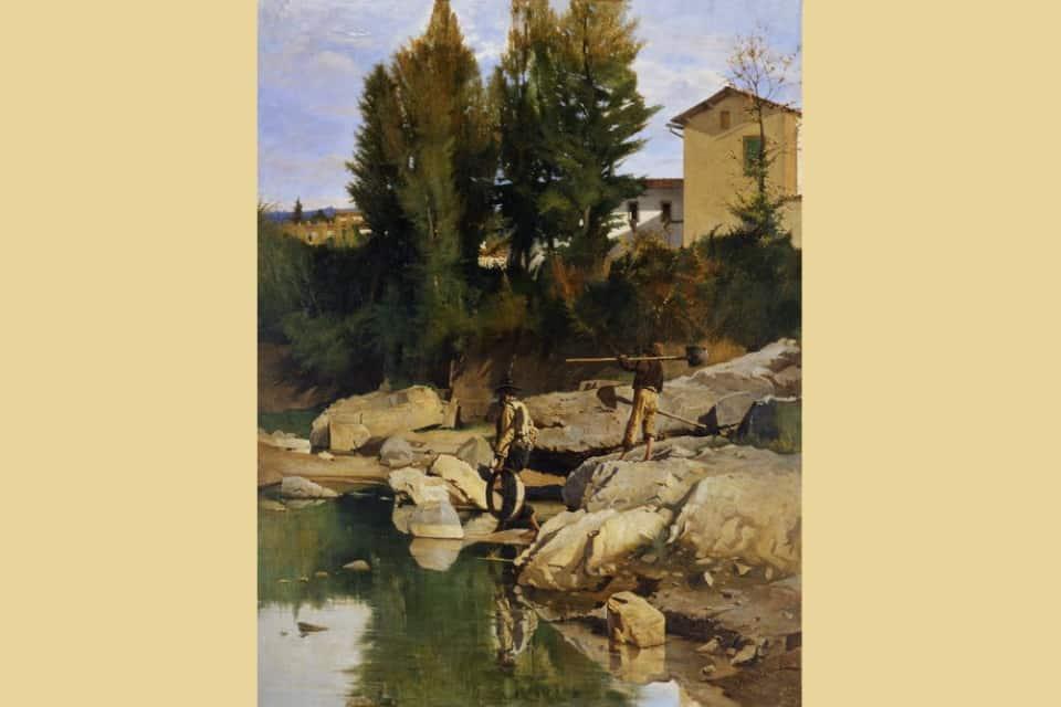 Odoardo Borrani, Renaioli sul Mugnone - Firenze, Galleria d'Arte Moderna