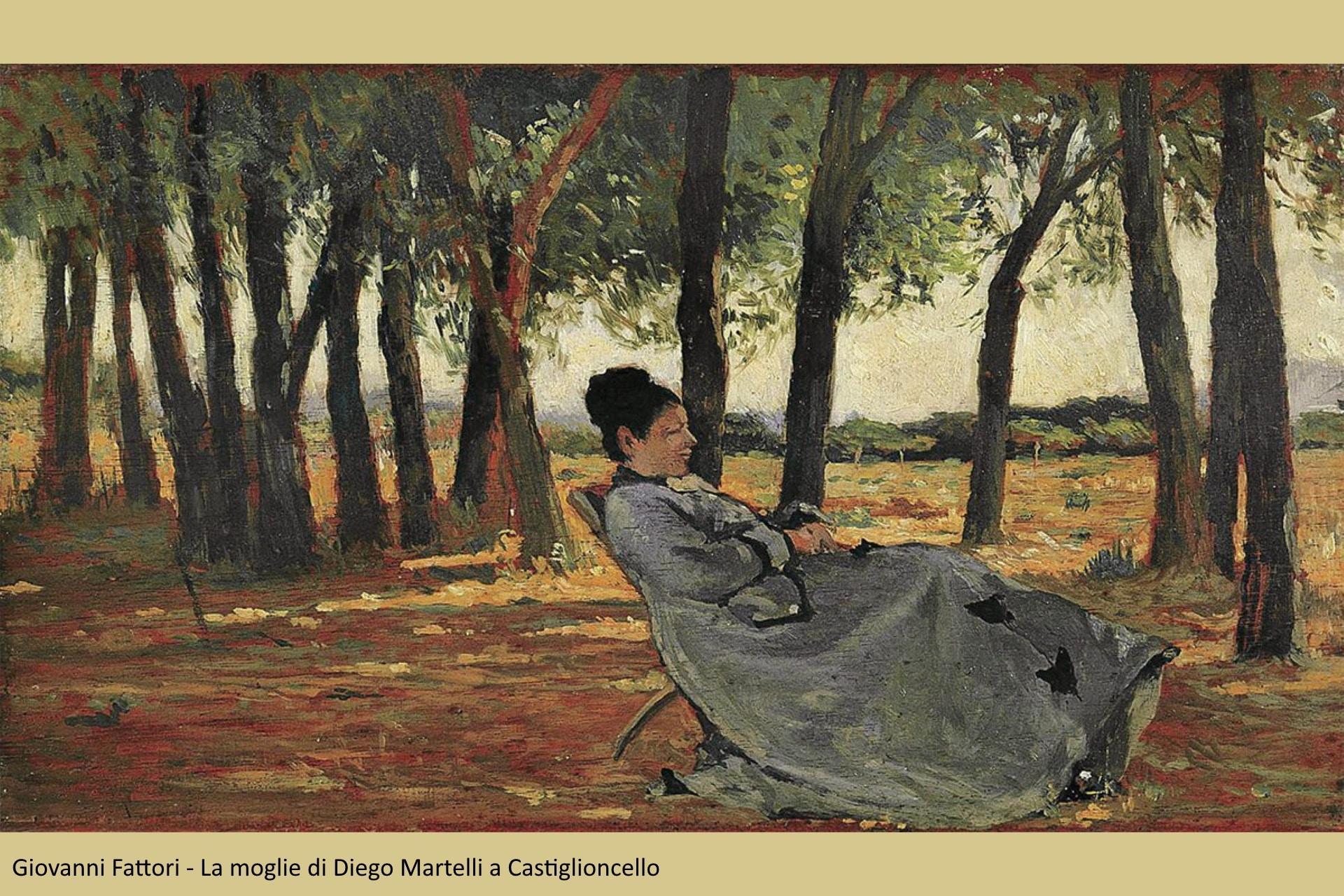 Giovanni fattori - La signora Martelli a Castiglioncello