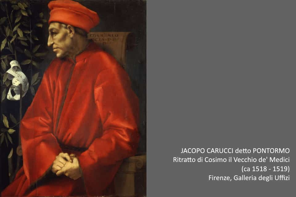 Pontormo, ritratto di Cosimo il Vecchio