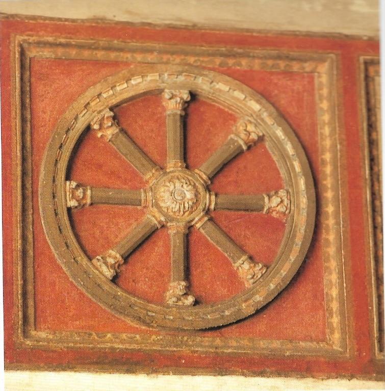 La ruota simbolo della Chiesa e del Sestiere di San Piero Scheraggio