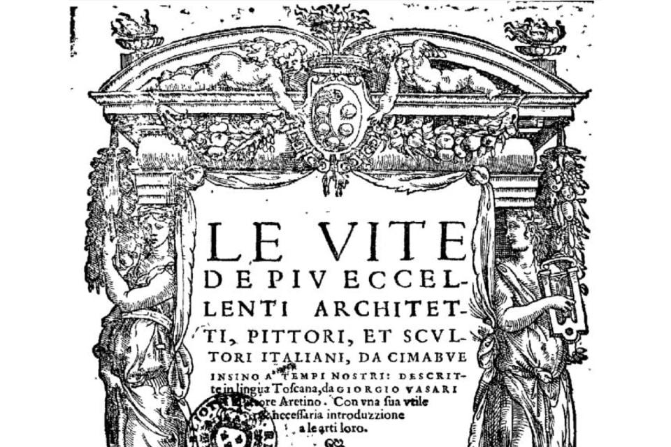 """Giorgio Vasari: copertina de """"Le Vite"""""""