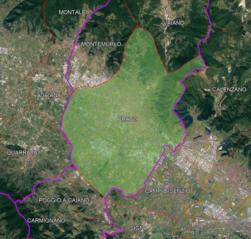 Prato confini comunali