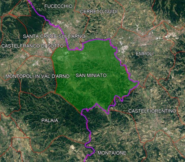 San Miniato: confini comunali