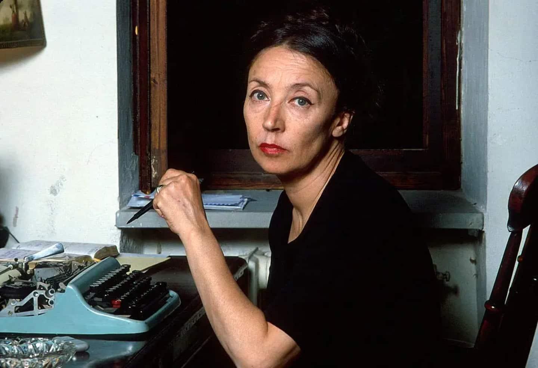 Oriana Fallaci nella sua casa di Lamole in Chianti