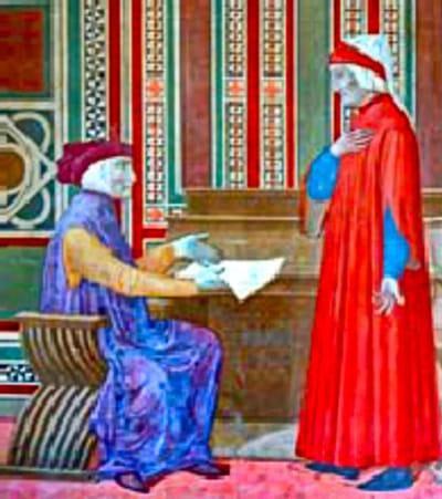 Dante e Moroello Malaspina